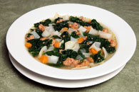 Kale and Sausage Soup with Noodles Recipe