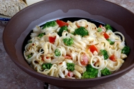 Pasta with Broccoli and Garlic Cream Sauce Recipe