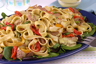 Pasta Salad with Grilled Steak and Peppers Recipe