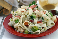 Fettuccine with Lobster and Leeks Recipe