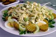 Egg and Sweet Pickle Pasta Salad Recipe
