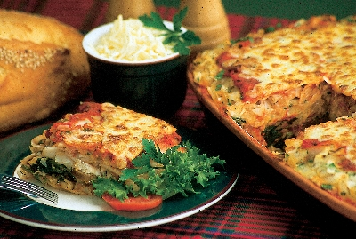 Turkey Sausage and Spinach Lasagna at Notta Pasta